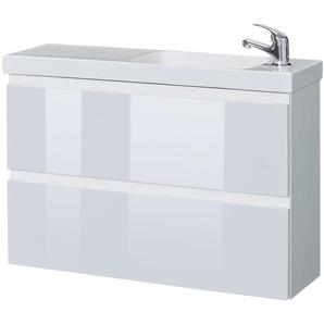 HELD MÖBEL Waschplatz-Set »Barcelona«, Waschtisch, reduzierte Tiefe, 80 cm breit, 2 tlg.