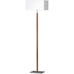 Honsel Stehlampe ,Weiß ,Holz, Textil, Natur