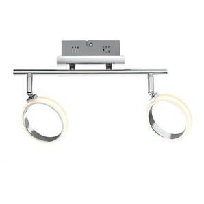 casaNOVA LED Deckenlampe 2 flg RIGA Nickelfarbig/Chromfarbig