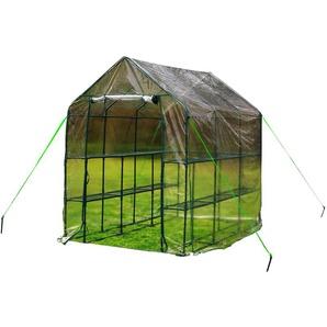 RESTPOSTEN: OUTFLEXX Gewächshaus, grün, Stahl/PVC, pulverbeschichtet, 214 x 143 x 195 cm