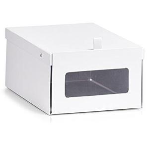 Zeller 17776 Schuh-Box Schuhbox, Pappe, Weiß, ca. 23 x 35 x 14 cm