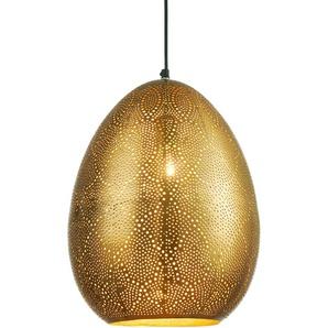 Pendelleuchte zaubert schöne Lichteffekte, goldfarben, Gr. 38/30 cm,  home