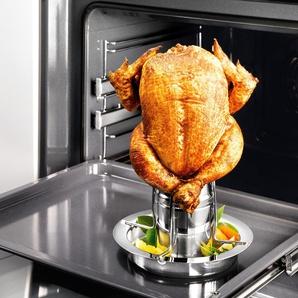 Küchenprofi Hähnchengriller BBQ Advantage mit Aromaaufsatz, Edelstahl