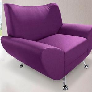 INOSIGN Sessel, lila, Luxus-Microfaser ALCAZAR