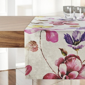 Garten-Tischläufer  Lara | beige | 100% Baumwolle | 40 cm | Möbel Kraft