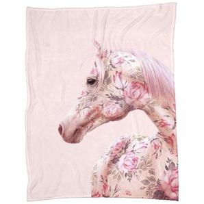 Floral Horse - Fleecedecke