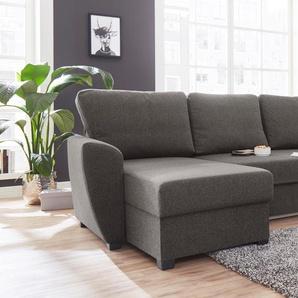 Atlantic Home Collection Polsterecke, braun, B/H/T: 240x43x52cm, komfortabler Federkern, hoher Sitzkomfort