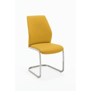 Freischwinger 3821 Edelstahl gelb NIEHOFF 382102152 (BHT 44x97x58 cm) Niehoff-Sitzmöbel