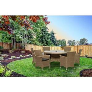 6-Sitzer Gartengarnitur Termonde mit Kissen