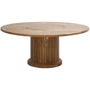 Ploß Tisch  Phoenix ¦ holzfarben ¦ Teakholz ¦ Maße (cm): H: 76 Ø: [160.0]