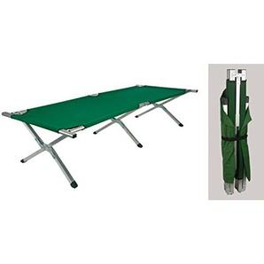 Feldbett / Klappbett 190x65x41cm Alu / Stahl grün