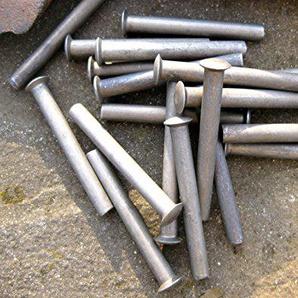 10x 50x 6mm Nieten zur Griffreparatur von Schaufeln, Spaten, Heugabeln, Rechen, Harken