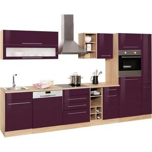 HELD MÖBEL Küchenzeile mit E-Geräten »Eton«, Breite 330 cm, lila