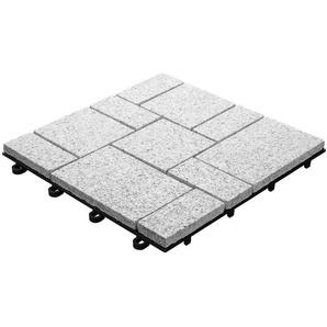 Plastoform Florco Steinfliesen Florco Granit, formbeständig, abrieb- und wetterfest, 4 Stück
