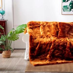 Star Home Textil Wohndecke »Zobel«, 150x200 cm, braun