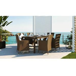 6-Sitzer Gartengarnitur Groover mit Polster