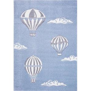 KINDERTEPPICH 120/170 cm Blau, Grau, WeißBennjen: KINDERTEPPICH 120/170 cm Blau, Grau, Weiß