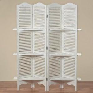 Paravent m/Regal Jive Holz weiß BOLTZE 1516000 (LBH 140x30x180 cm) BOLTZE