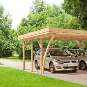 Kiehn-Holz Doppelcarport »KH 104«, BxT: 604x510 cm, mit Alu-Dach