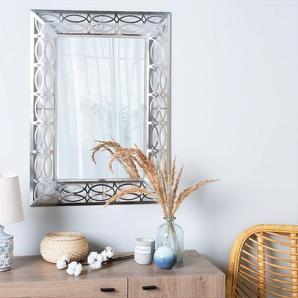 Wandspiegel silber rechteckig 80 x 60 cm MALPAS