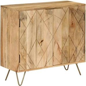Sideboard Mangoholz Massiv 80 x 30 x 75 cm - VIDAXL