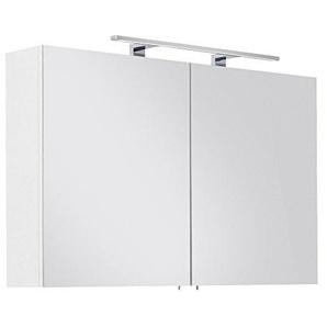 Posseik Badmöbelserie Spiegelschrank VIVA 100 inkl. Stromdose & Licht (B/H/T) 100/62/16,6cm zweitürig