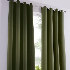 Verdunkelungsvorhang einfarbig (1er Pack) grün