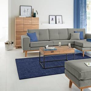 Guido Maria Kretschmer Home&living Eckcouch »Janis«, grau, Recamiere rechts, B/H/T: 280x47x57cm, hoher Sitzkomfort