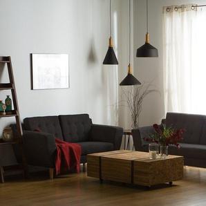 3-Sitzer Sofa Polsterbezug schwarz KUOPIO II