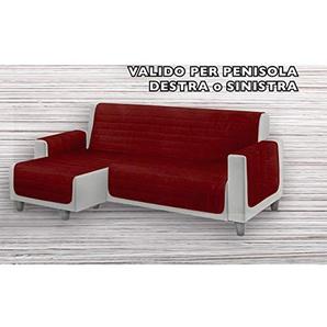 Biancheriaweb gesteppter Sofabezug für Sofas mit Halbinsel, unifarben Penisola 240 bordeaux