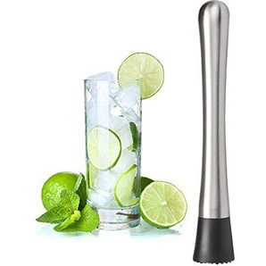 omufipw Cocktail Stößel Bar Tool Broken Popsicles Kitchen Gadgets Swizzle Stick 33 * 33 * 205 mm silber