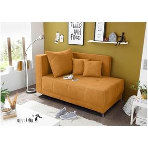 JUSTyou Atlanta Liege Loungesessel Clubsessel Sessel  (HxBxL): 80x95x154 cm Orange