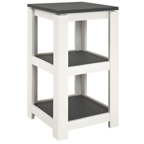 Beistelltisch SANTANA 40 x 74 x 40 cm Holznachbildung grau/weiß