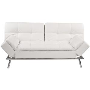 Gestepptes ausziehbares 3-Sitzer-Sofa weiß Denver