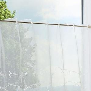 Scheibengardine  von LYSEL® Kringel  (Bx H) 150cm * 50cm weiß