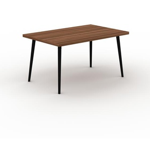Designer Esstisch Massivholz Nussbaum, Holz - Individueller Designer-Massivholztisch: Einzigartiges Design - 140 x 75 x 90 cm, Modular