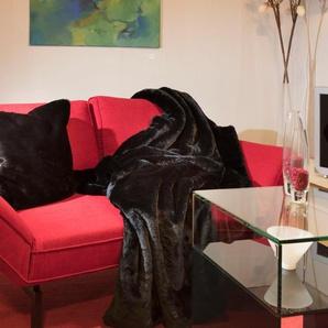 Star Home Textil Wohndecke »Puma«, 150x200 cm, schwarz