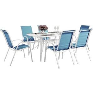 Gartenmöbel-Set aus Textilen Cordoba - Phoenix - Blau - HABITAT ET JARDIN