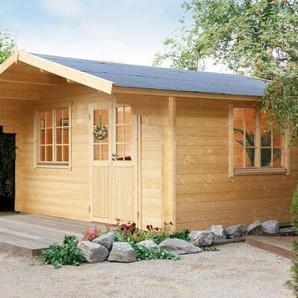 WOLFF FINNHAUS Gartenhaus »Kim 44-B XL«, BxT: 528x600 cm, inkl. Fußboden