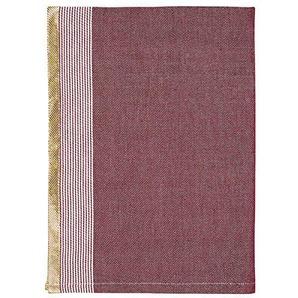 GreenGate Gate Noir - Geschirrtuch Küchentuch Trockentuch - Corine Bordeaux Rot - Art Deco Muster - 100% Baumwolle - 1 Stück