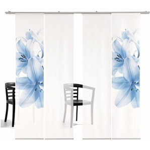 Emotion Textiles Schiebegardine  »Lilie TR«, H/B 260/60 cm, blau, transparenter Stoff