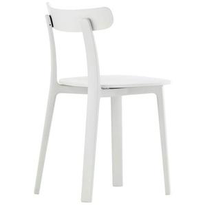Vitra Stuhl All Plastic Chair weiß, Designer Jasper Morrison, 76x42.5x46 cm