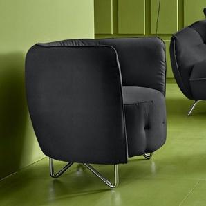 INOSIGN Sessel, grau, Luxus-Microfaser