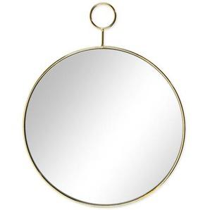 Spiegel rund, D:32cm, gold