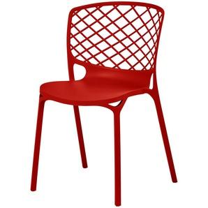 connubia calligaris Stuhl  Gamera ¦ rot ¦ Maße (cm): B: 53 H: 82 T: 53 Stühle  Esszimmerstühle  Esszimmerstühle ohne Armlehnen » Höffner