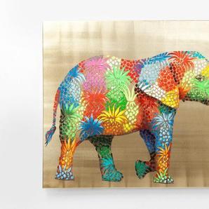 KARE Wandbild 120 x 90 cm ,bunt ,Holz, Textil, Natur