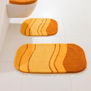Badgarnitur in besonderer Form, orange, Gr. ca. 70/120 cm, Kleine Wolke