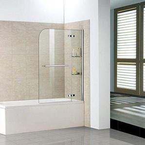 Gut 100x140cm Duschabtrennung Badewannenfaltwand Badewannen Aufsatz Duschwand  H2S HB10