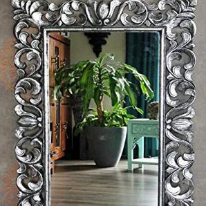 Eleganter Holz Wandspiegel Barockspiegel silber antik 120cm x 80cm