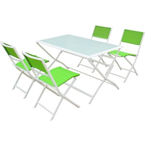 Garten-Esszimmer aus Textilen Bistro XL - Phoenix - Grün - HABITAT ET JARDIN